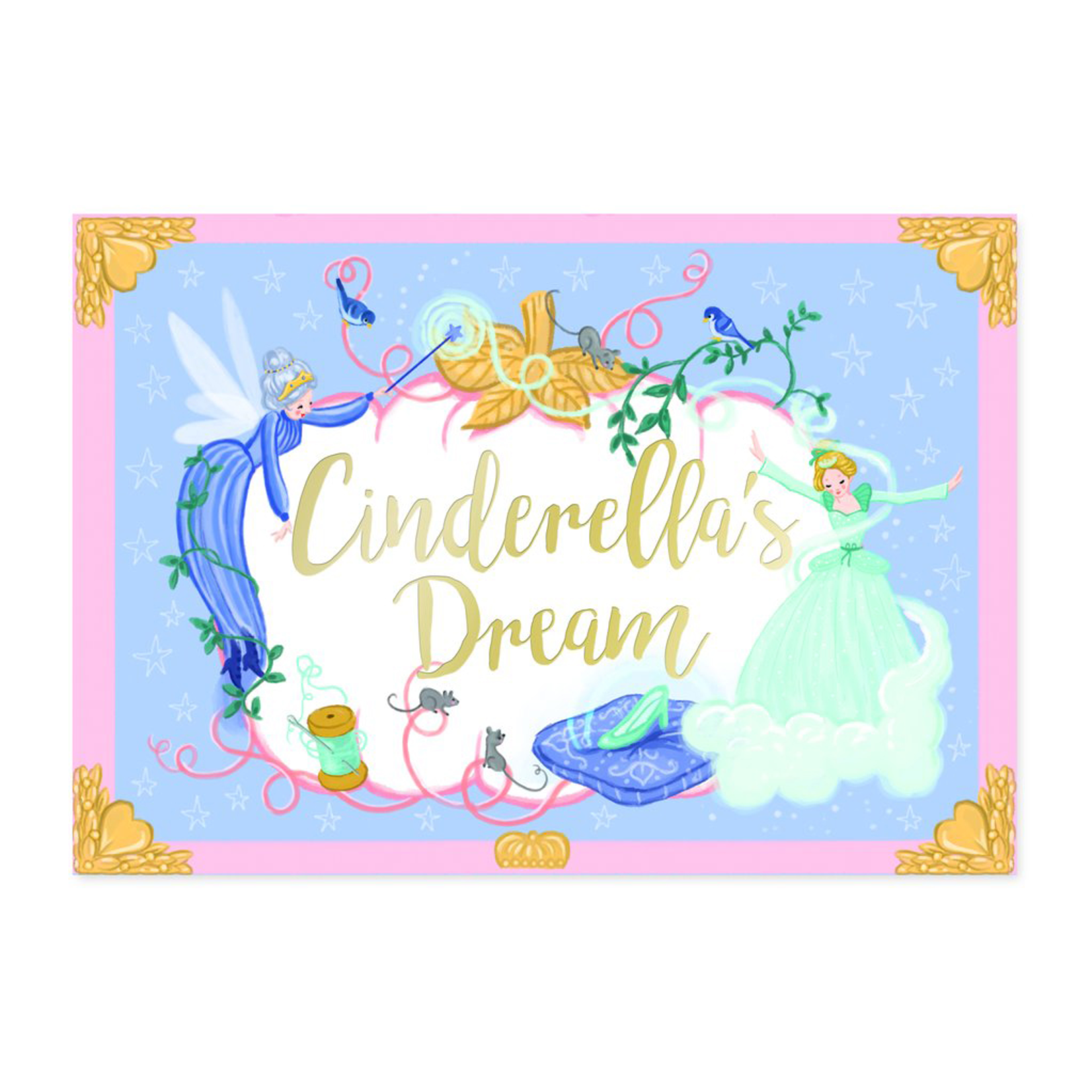 My Design co Cinderella's Dream Moving Musical Box Card