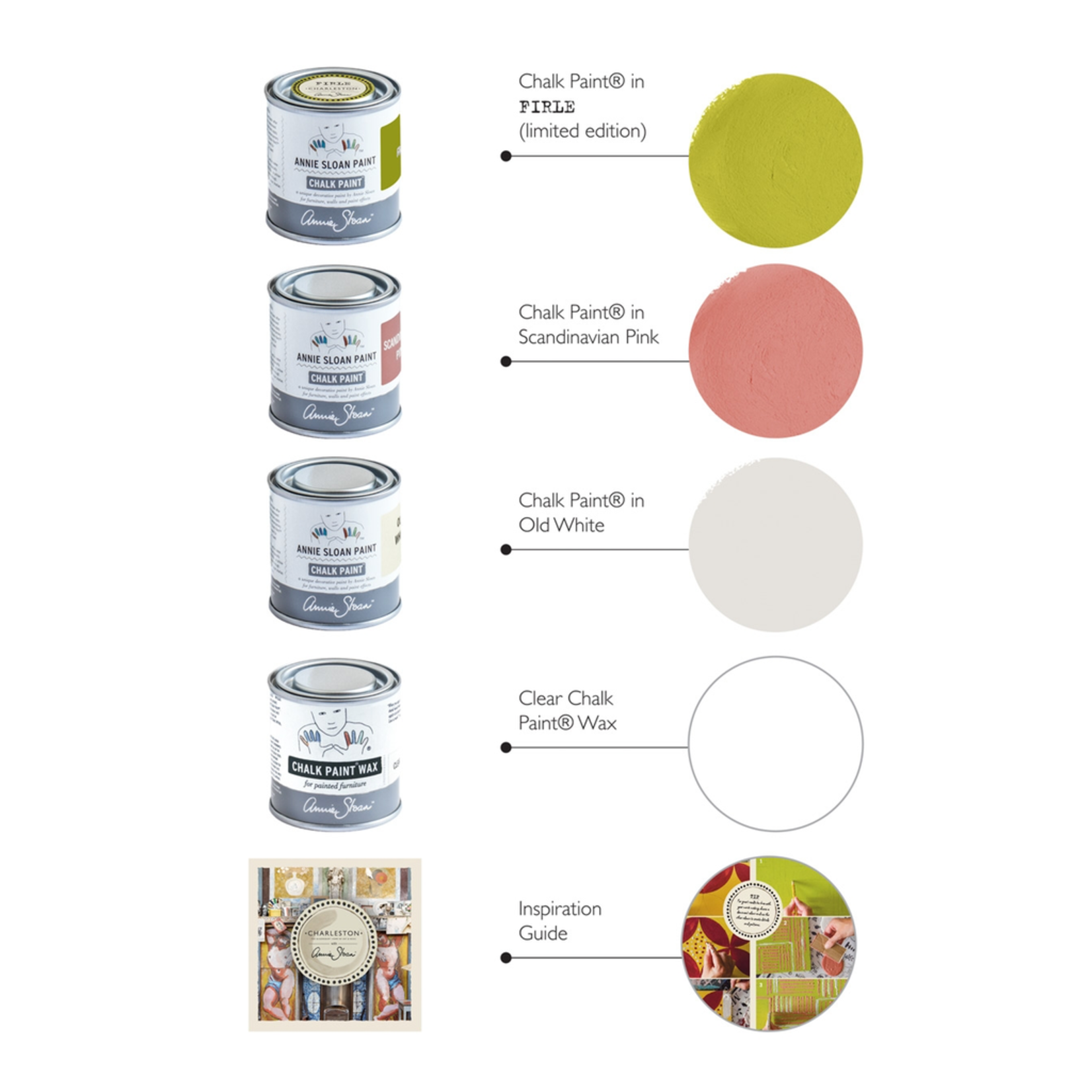 Annie Sloan Annie Sloan Charleston Decorative Paint Set - Firle