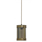 Light & Living Invy antique bronze & glass smoke hanging lamp 17x25cm