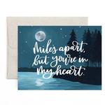 1CANOE2 Miles Apart Moon Card
