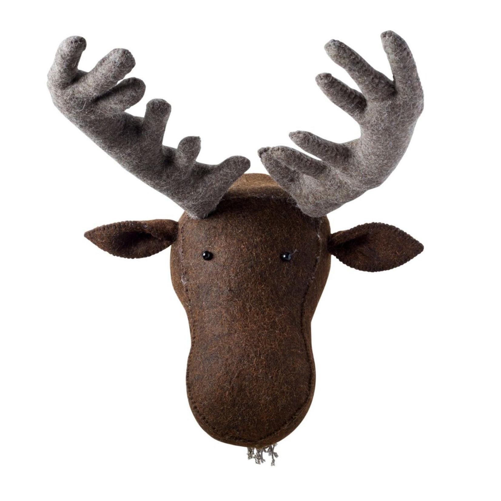 Fiona Walker Fiona Walker Brown Felt Moose Head Original Large Size