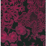 Decopatch Decoupage PAPER 460 Black and pink damask print