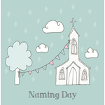 Homebird Homebird Church NAMING DAY Card