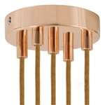 CCIT Copper 120 mm 5 Hole Ceiling Rose Kit With Cylindrical Copper Plated Cable Grip.
