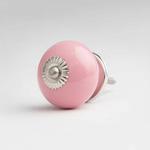 BoDuck Bonbon Ceramic Round Door Knob Pale Pink