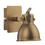DAR Antique Brass Effect finish Wall Light Idaho Single Wall Bracket GU10 Bulb