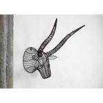 Nkuku Eko Wire Bull Head - Rust - 55 x 52 x 42cm