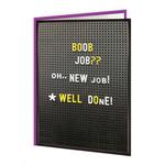 Brainbox Candy Boob Job New Job Greetings Card