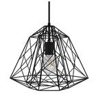 CCIT Large DIAMOND Black Geometric Naked Lampshade XL Bulb Cage - with E27 lamp holder