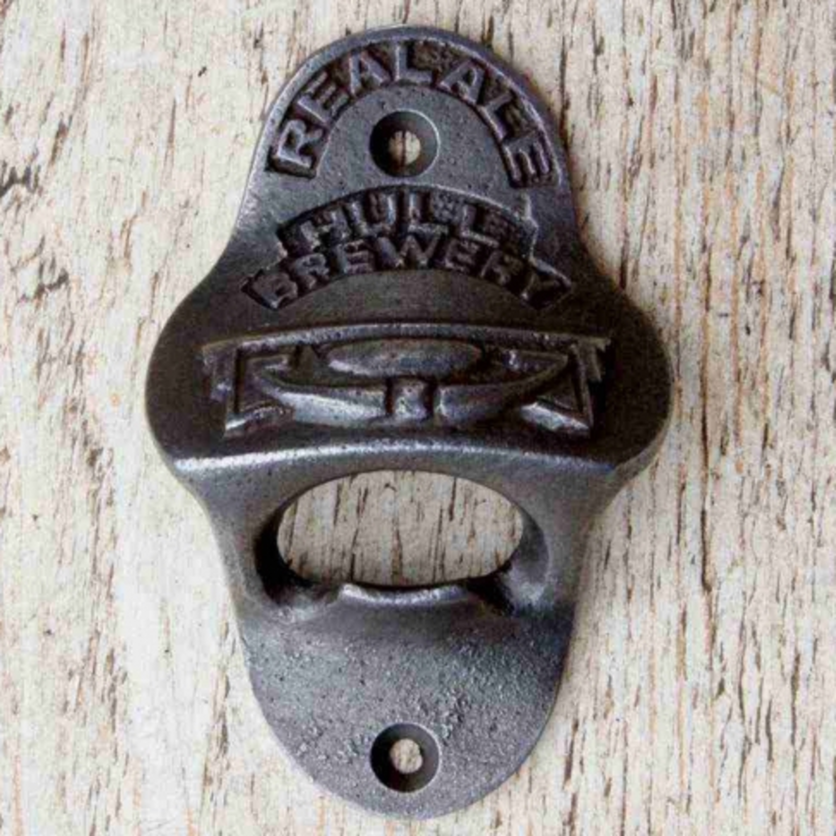 IRON RANGE Bottle Opener Wall Fixing 'HULL BREWERY' Cast Ant