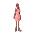 Maileg Maileg Medium Brown Bunny Fleurie Pink Dress