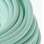 CCIT Per Metre - Round Pastel Mint Electric Cable cotton 3 core Flex: 0.75cm Diameter