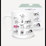U Studio Design Ltd Cat Oscars Mug from the Saskdraws collection