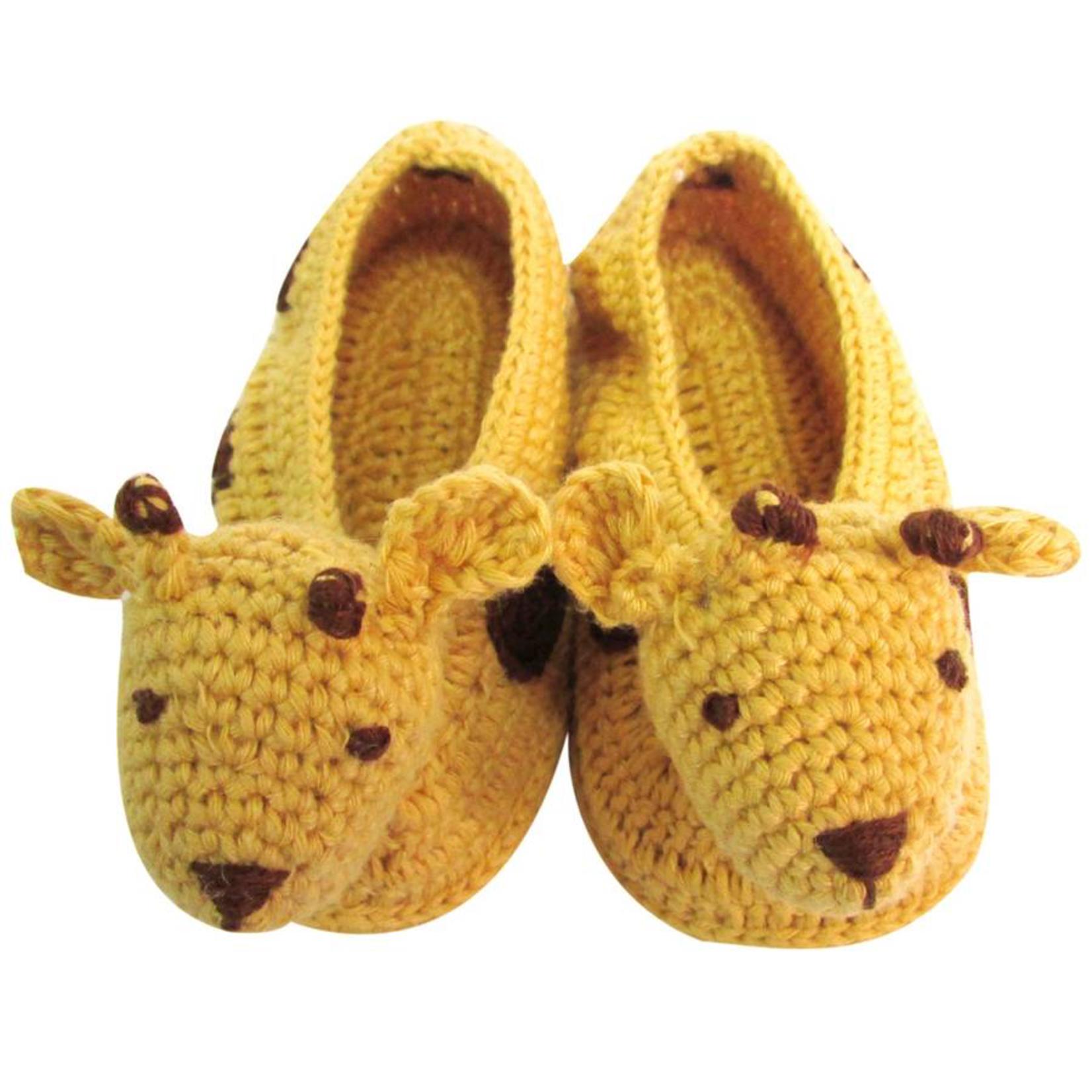 Albetta Albetta Crochet Giraffe Booties Brown