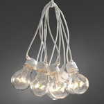 Konstsmide Lightset 10 clear bulbs, LED White Cable Mains Operated Festoon Fairy Lights Outdoor or indoor