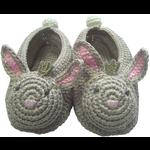 Albetta Albetta Crochet Bunny Booties in white box