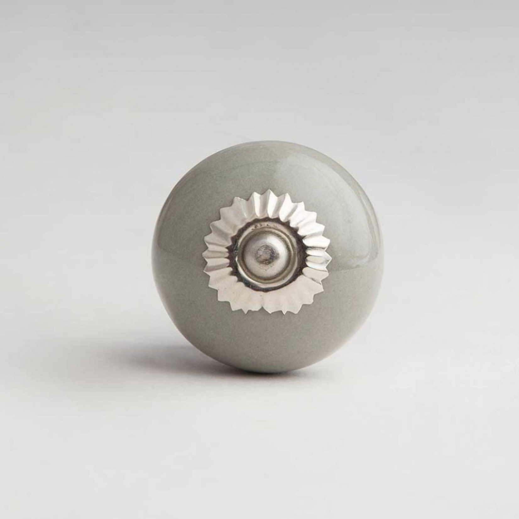 BoDuck Bonbon Ceramic Round Door Knob Dove Grey