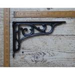 "IRON RANGE Shelf / Wall Bracket Heritage Satin Epoxy Black 6"" x 9"""