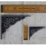 """IRON RANGE Shelf / Wall Bracket Jali Lattice Cast Ant Iron 3"""" x 4"""""""