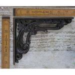 "IRON RANGE Shelf / Wall Bracket Victorian Flower Cast Ant Iron 150 x 200mm / 6"" x 8"""