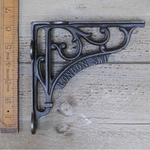 "IRON RANGE Shelf Bracket 'LONDON SW1' Ant Iron 150 x 150mm / 6"" x 6"""
