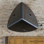 "IRON RANGE Corner Cap Protector Antique Iron with Seam 2"" x 2"" x 2"""