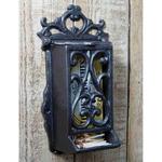 IRON RANGE Matchbox Holder Cast Antique Iron