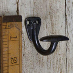 IRON RANGE Bowler Hat Hook Single Mini Cast Antique Iron 40mm x 40mm