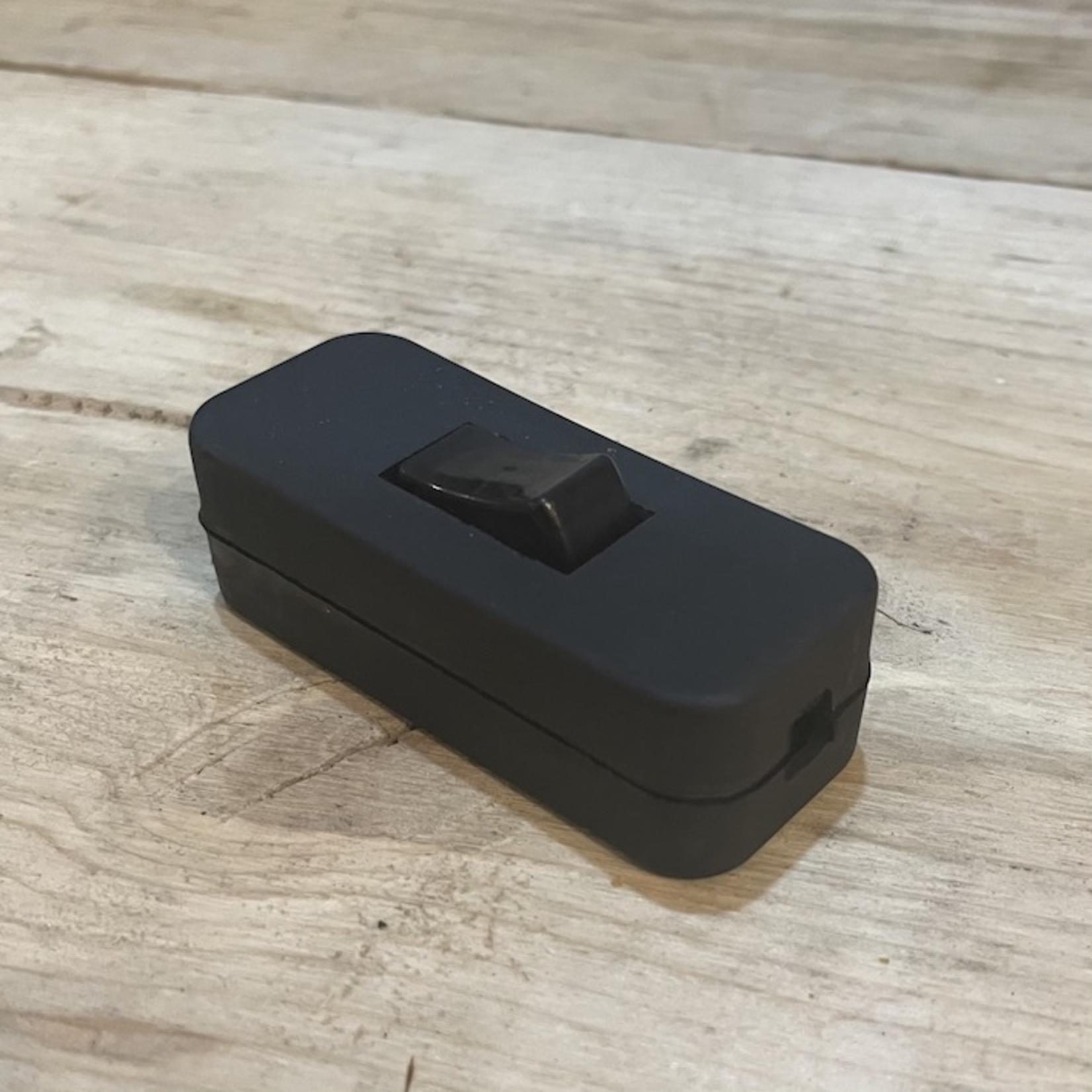 SL British Made Black Rocker Switch 2A 250V L6.5cm x W2.8cm x D2.5cm