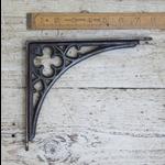 "IRON RANGE Shelf Bracket 'GOTHIC' Design Antique Iron 7"" (H) x 7.75"""