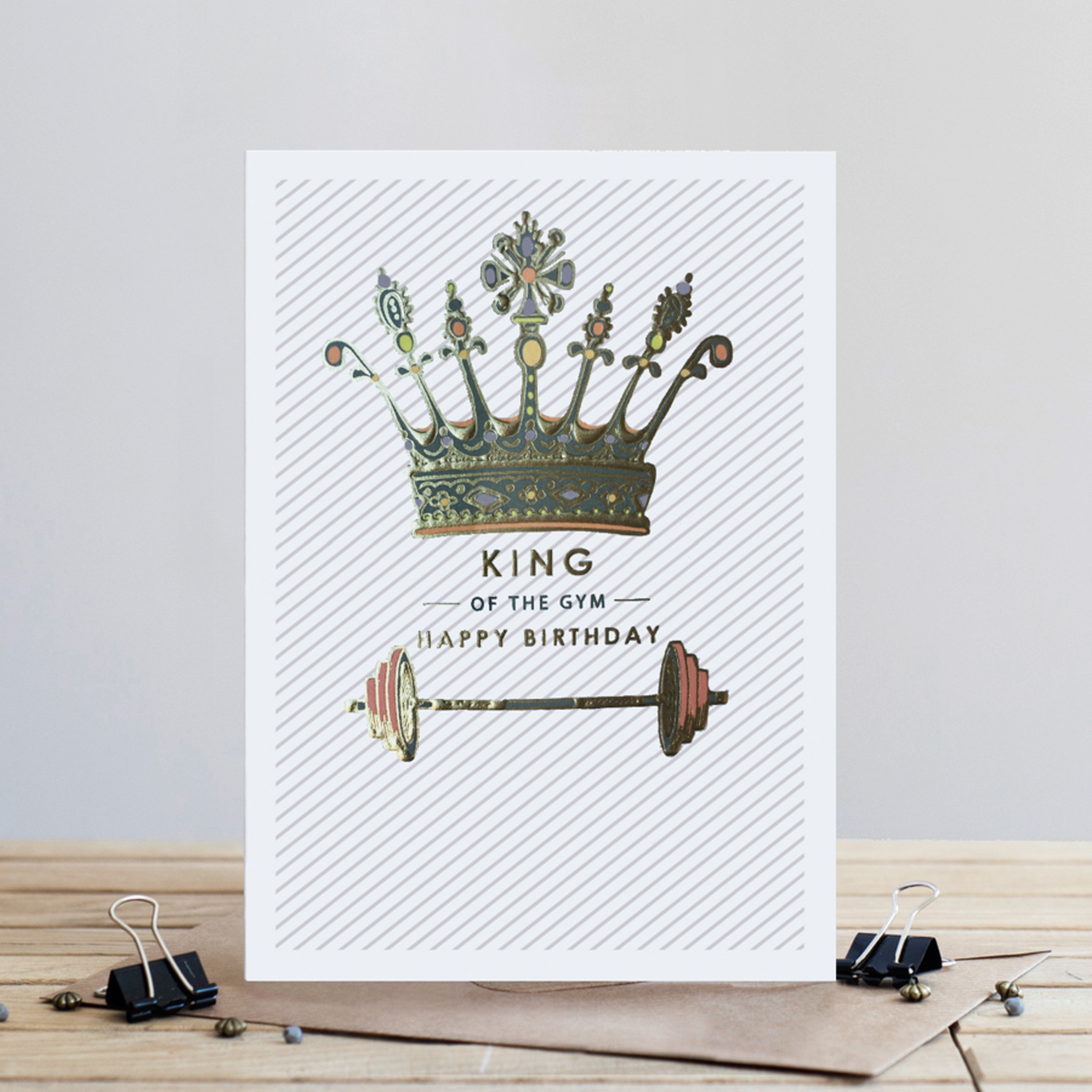 Louise Tiler Happy Birthday King of the Gym Card