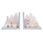 Sass and Belle Bear Camp Bookends