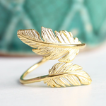Lisa Angel Gold Double Feather Ring