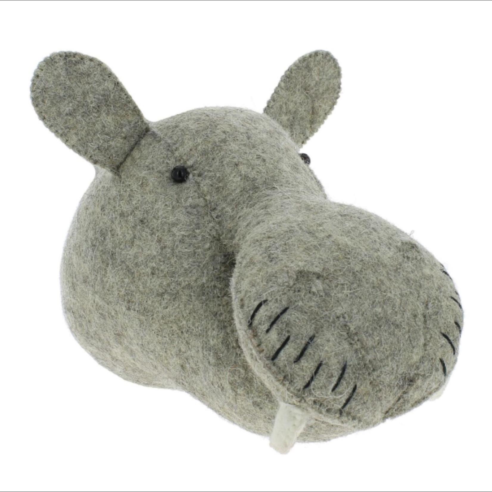 Fiona Walker Fiona Walker Mini Light Natural Grey Hippo Head