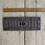 "IRON RANGE Air Vent Adjustable Sliding Dalton Cast Iron 9"" x 3.75"""