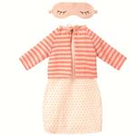 Maileg Maileg Best Friends - Coral Night Dress with cardigan