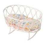 Maileg Maileg Cradle with sleeping bag, Micro - Off-white