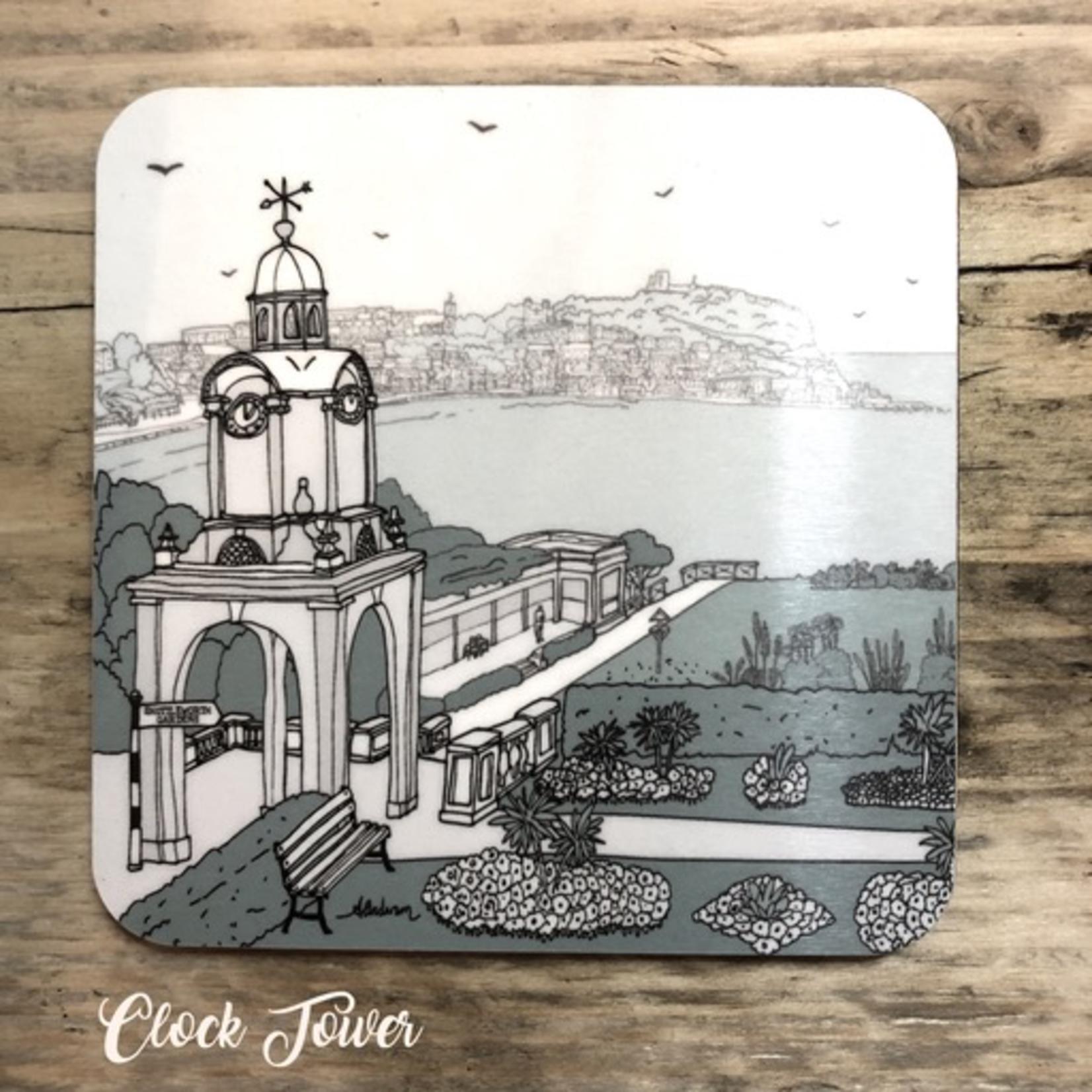 Homebird Coaster Clock Tower -  Alex Anderson Scarborough Single Tableware