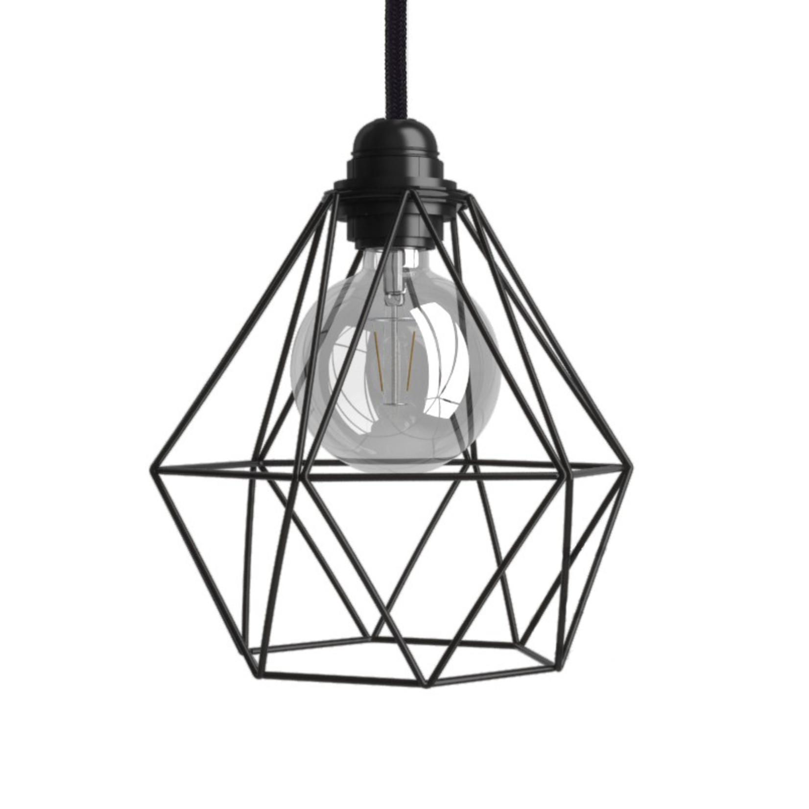 CCIT Black Wire cage lampshade Diamond shape