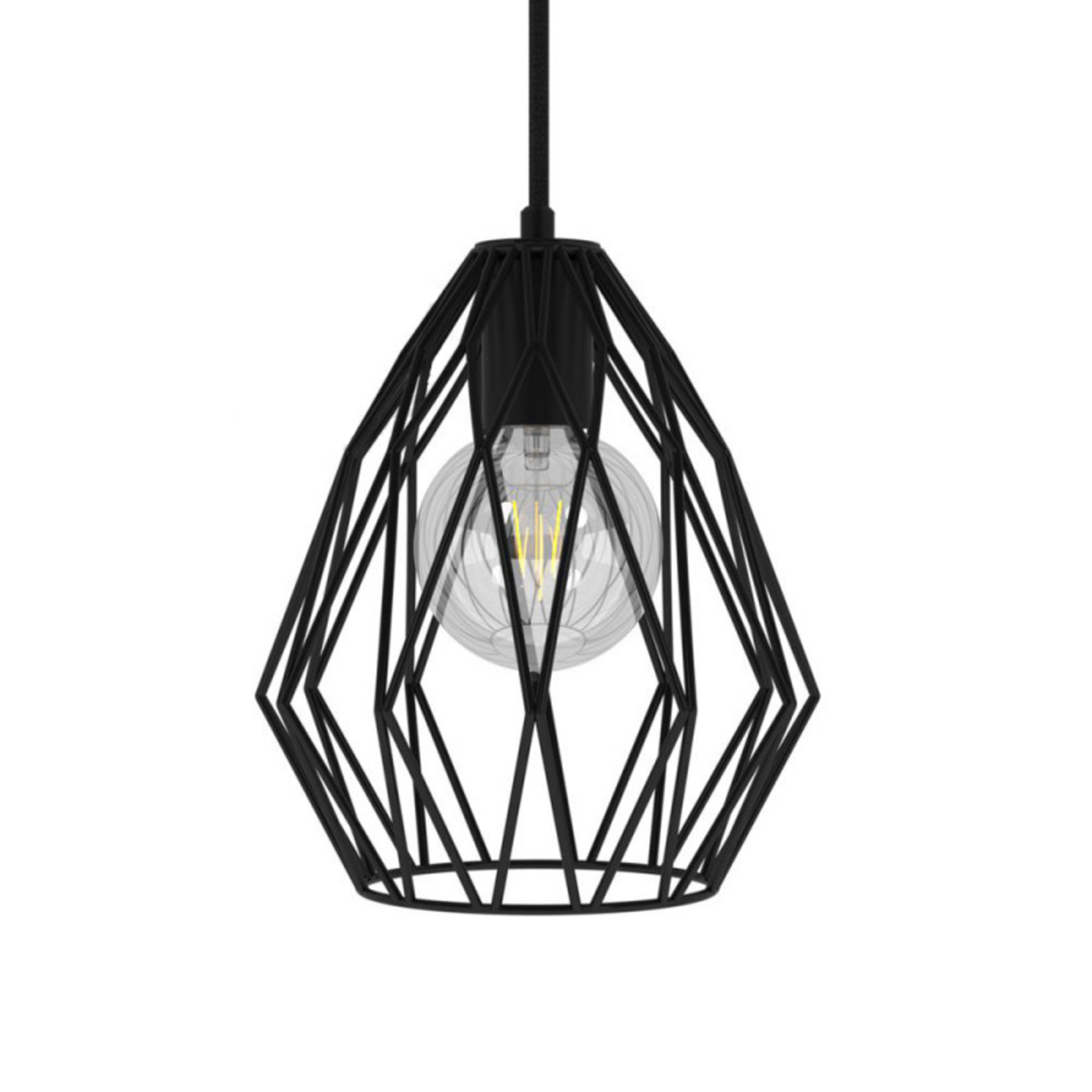 CCIT Gem Naked Lampshade - Black metal with E27 lamp holder