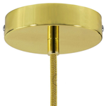 CCIT Brass SINGLE 120 mm ceiling rose kit with cylindrical brass plated cable grip