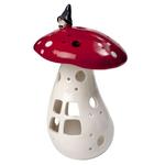 Urban Outline Lantern TomteGnome on mushroom 21cm