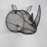 Nk Eko Wire Rhinoceros Head - Rust - 30 x 27 x 42cm