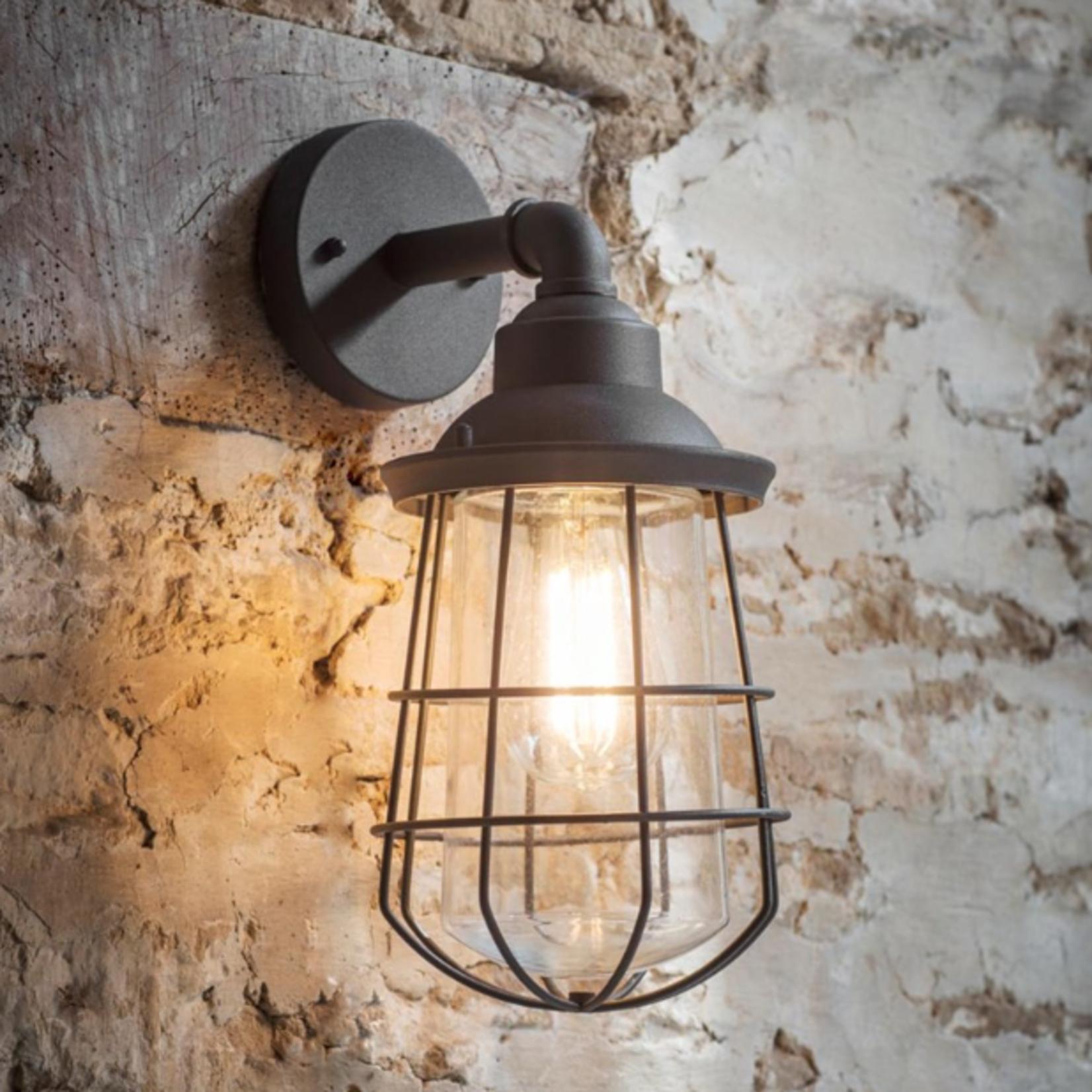 GT Finsbury Wall Light in Charcoal - Steel - Indoor or Outdoor