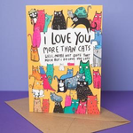 Katie Abey I love you more than cats card