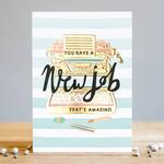 Louise Tiler New Job Stripes Card