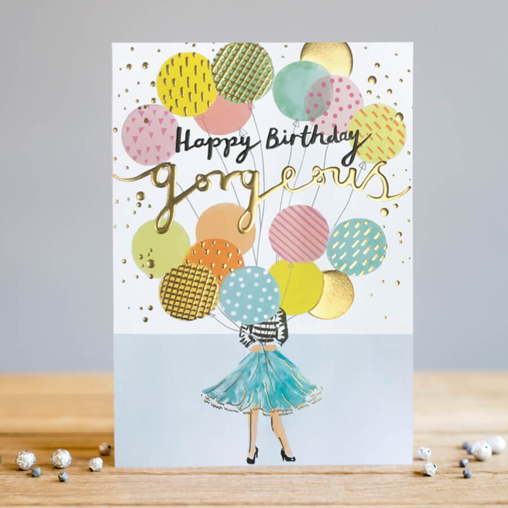 Louise Tiler Happy Birthday Gorgeous - Balloons Card