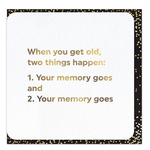Brainbox Candy Get Old Two Things card