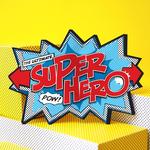 My Design co Superhero Comic Cracker Card