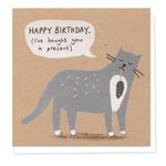 Stormy Knight Naughty Grey Cat Card